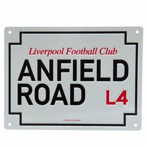 Bilde av Liverpool Anfield Road skilt
