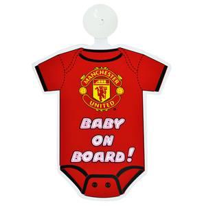Bilde av Man Utd baby on board skilt