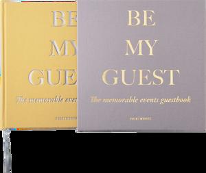 "Bilde av Printworks ""Be my guest"" gjestebok Gul/Beige"