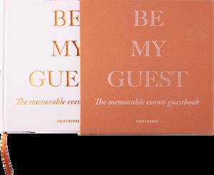 """Bilde av Printworks """"Be my guest"""" gjestebok Rosa"""