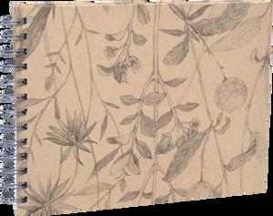 """Bilde av """"Flower"""" Wire-O 23x17cm Brun"""