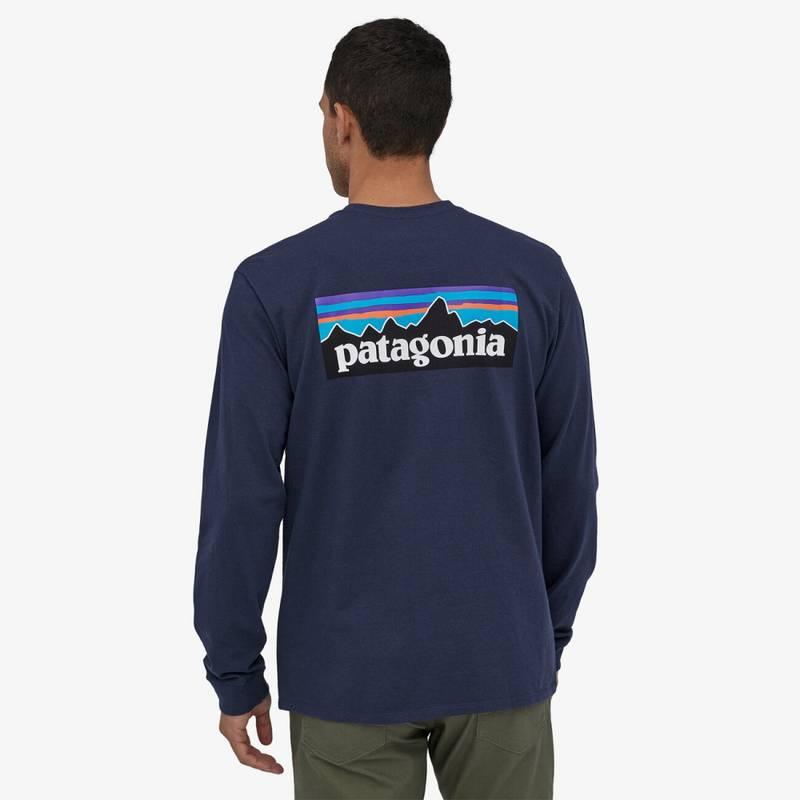 Bilde av Patagonia Mens Long-Sleeved P-6 Logo Responsibili-Tee Classic Na