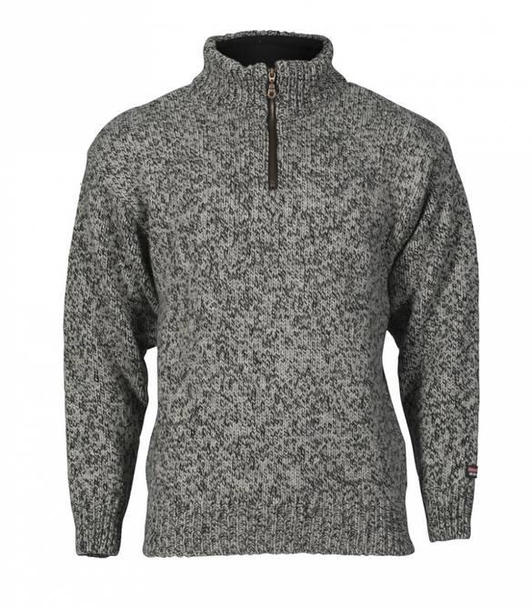 Bilde av Nansen Unisex Strikkegenser Mørk grå100 % ull