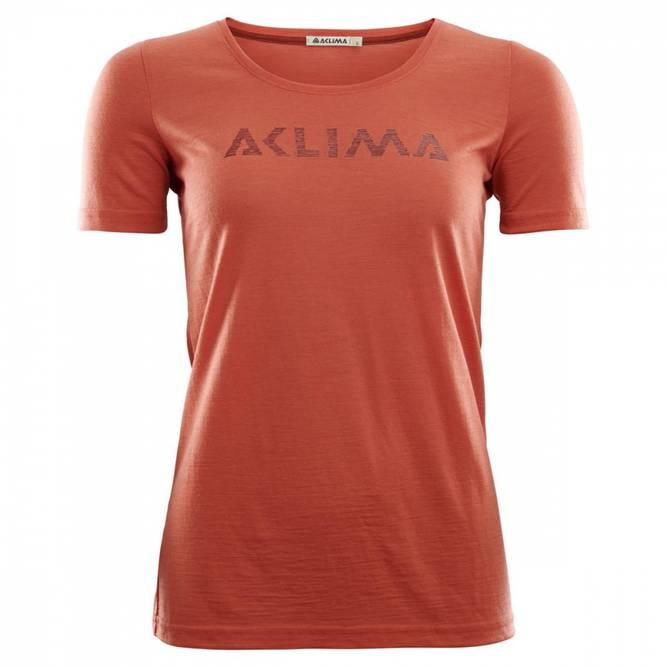 Bilde av LightWool t-shirt logo W's Burnt Sienna