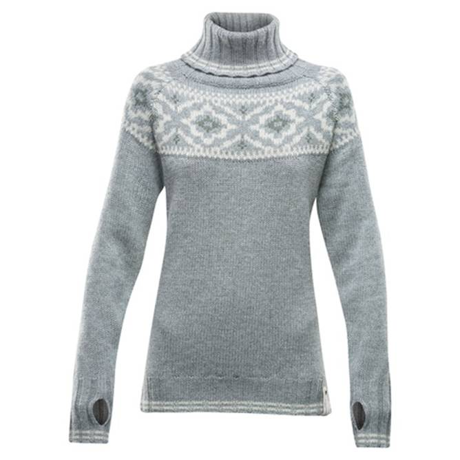 Bilde av Devold Ona Woman Round Sweater Grey Melange