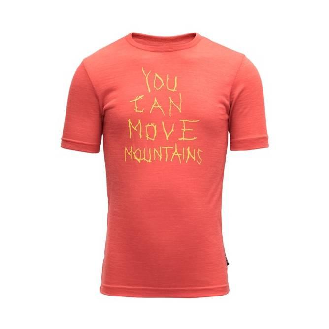 Bilde av Devold Moving Mountain Kid T-shirt Cayenne