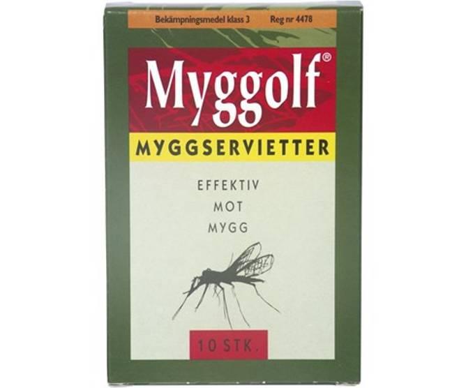 Bilde av Myggolf  Myggserviett 10 pk i eske