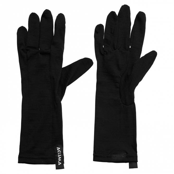 Bilde av Aclima LightWool Liner gloves Jet Black