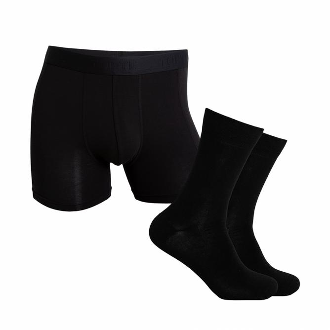 Bilde av Tufte Men`s Boxer & Socks Giftbox Black