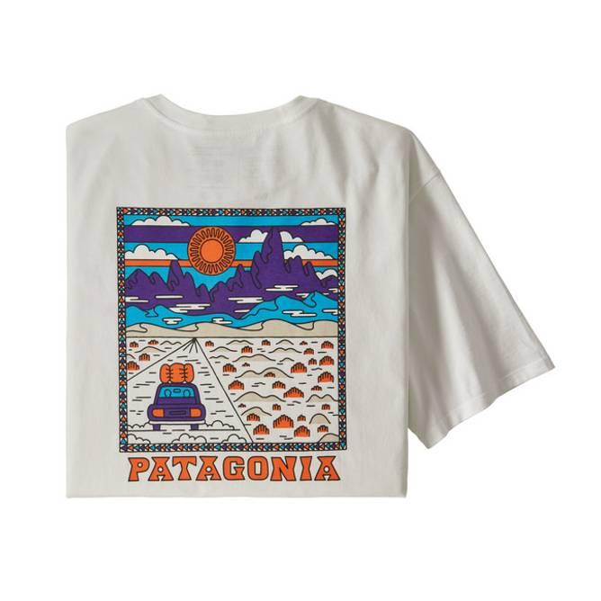Bilde av Patagonia Summit Road Organic T-Skjorte M White