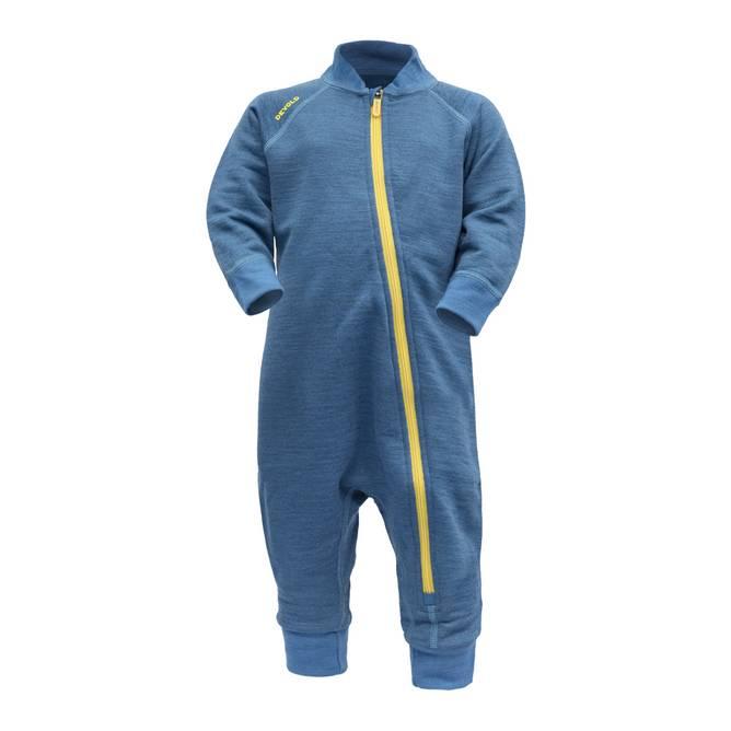 Bilde av Devold Nibba Baby Wool Playsuit Blue Melange