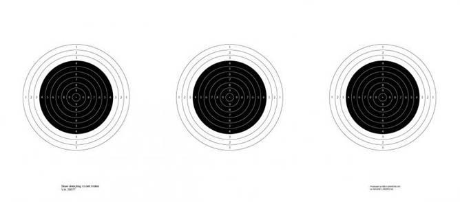 Bilde av  Skive Skiskytter 10-delt 3-blink 70x31 cm