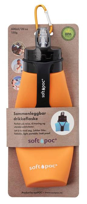 Bilde av Sammenleggbar drikkeflaske Oransje SoftPoc