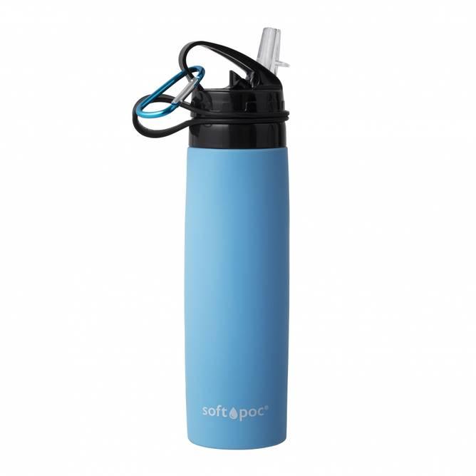 Bilde av Sammenleggbar drikkeflaske Blå SoftPoc