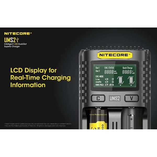 Nitecore UMS2 Mod USB Hurtigladerlader 3A