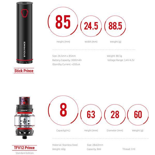 Smok Stick Prince Kit m/Prince 8 ml Tank