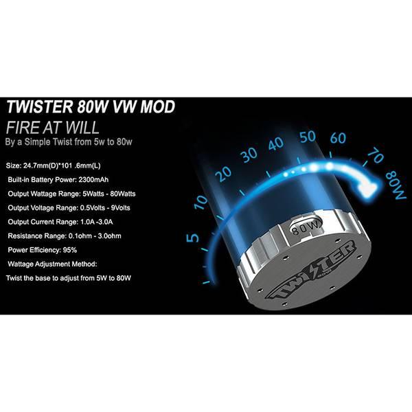 FreeMax Twister 80W Metall Kit m/Fireluke 2 - 5 ml Tank