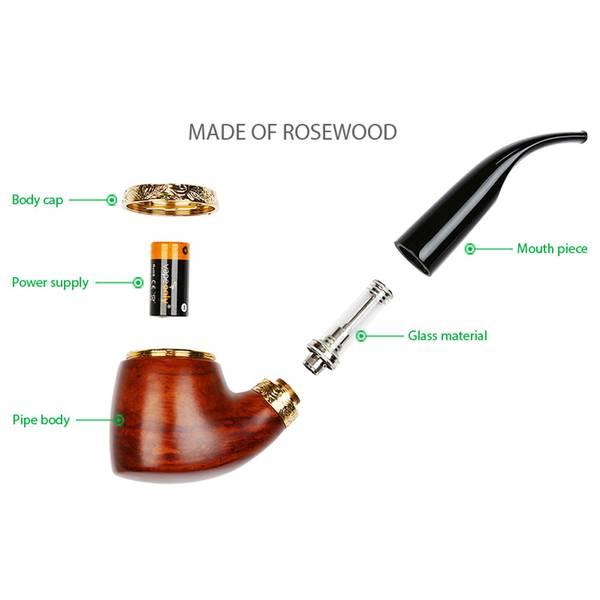 VapeOnly vPipe III Pipe Rosewood Startsett