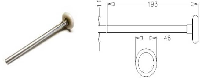 Bilde av 46mm Standard trinse med bolt