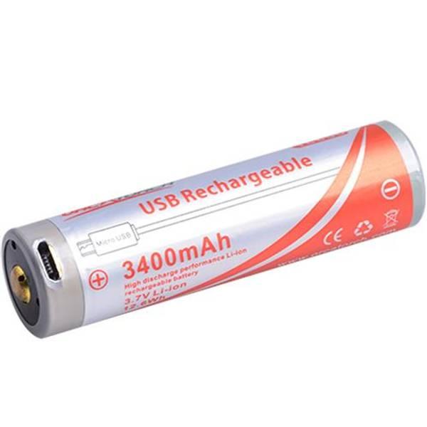 Bilde av Orcatorch batteri 18650, 3400Mah USB