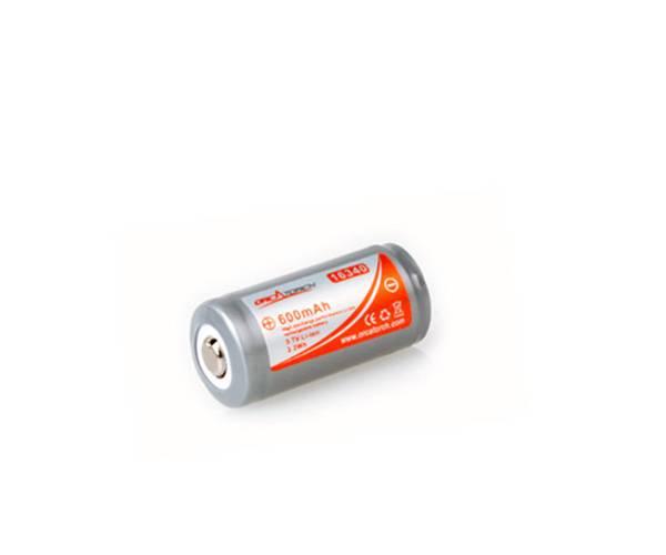 Bilde av OrcaTorch 16340 batteri, 600mAh