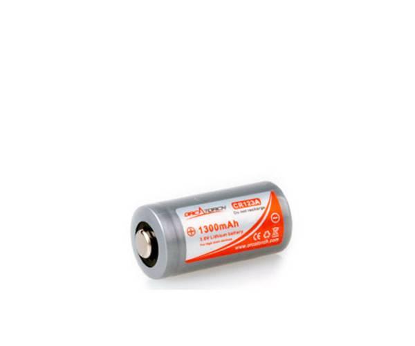 Bilde av OrcaTorch batteri CR123A, 1300mAh