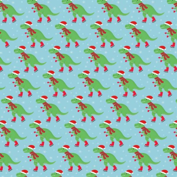 Bilde av GAVEPAPIR - Christmas Roarsome Dinosaur