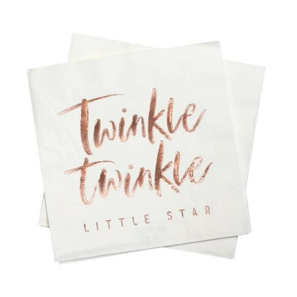 Bilde av SERVIETTER -Rosegull -  Twinkle Twinkle