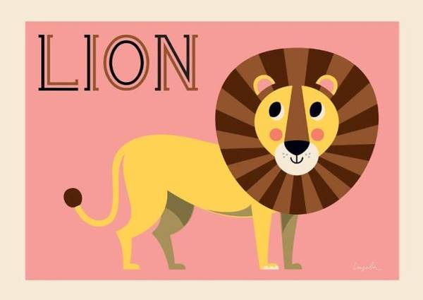 Bilde av POSTER - Friendly Lion - Ingela P Arrhenius