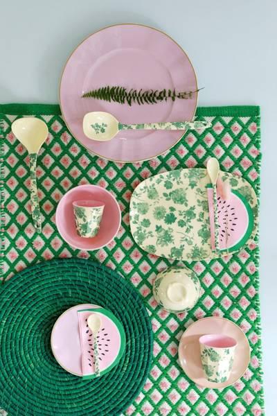Bilde av LITEN BOLLE - Grønn Rose Print - Rice