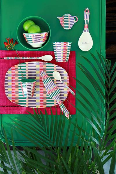Bilde av LITEN BOLLE - Stripe Print - Rice
