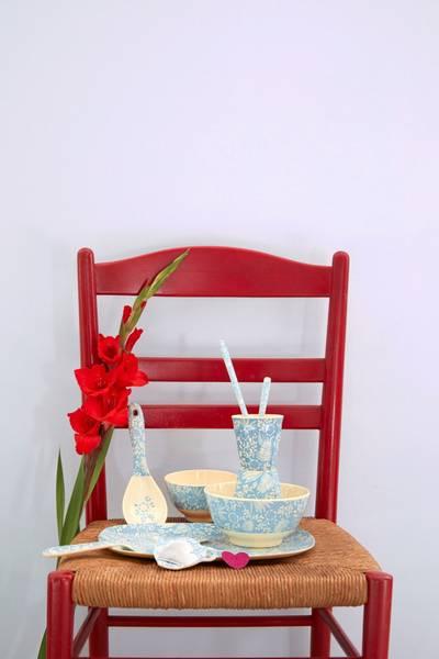 Bilde av KOPP - Blå Blomster Print - Rice