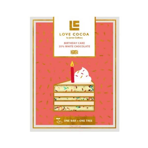 Bilde av HVIT SJOKOLADE - Birthday Cake - Love Cocoa