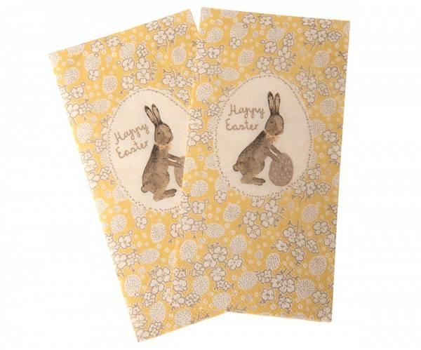 Bilde av SERVIETTER - Happy Easter Bunny - Gule - Maileg