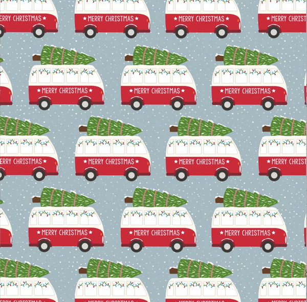 Bilde av GAVEPAPIR - Christmas Camper Van