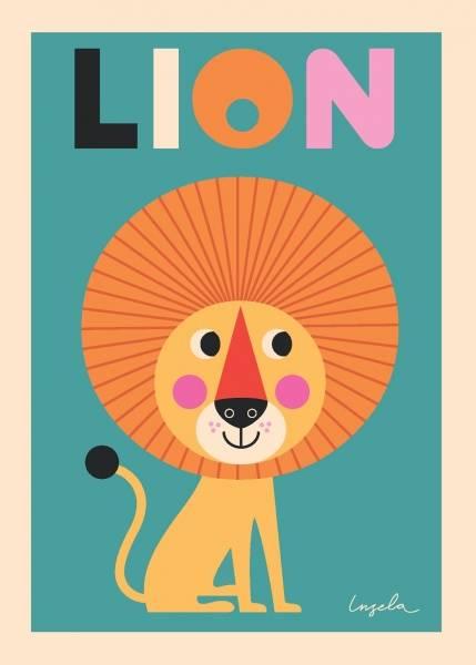 Bilde av POSTER - Lion - Ingela P Arrhenius