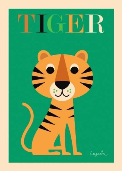 Bilde av POSTER - Tiger - Ingela P Arrhenius