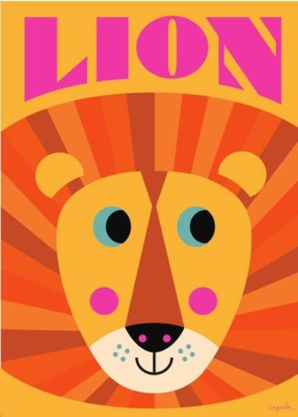 Bilde av POSTER - Lion Face - Ingela P Arrhenius