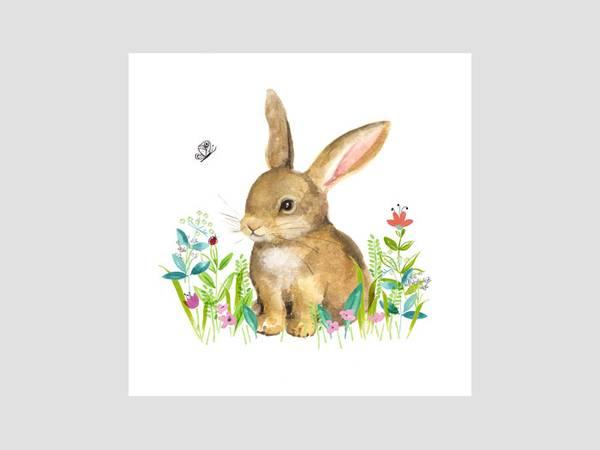 Bilde av SERVIETTER - Little Bunny