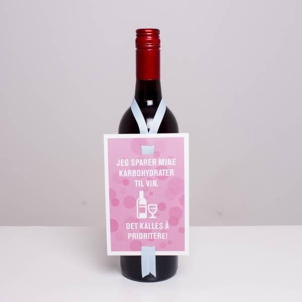 Bilde av VINKORT - Jeg sparer mine karbohydrater til vin