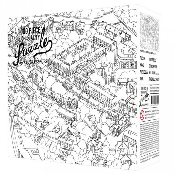 Bilde av PUSLESPILL - City Sketch
