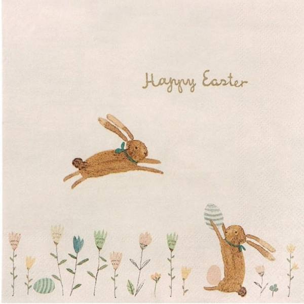 Bilde av SERVIETTER - Happy Easter Field - Maileg