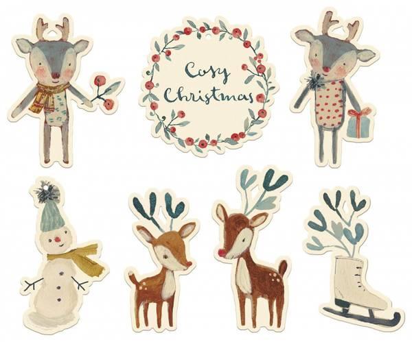 Bilde av TAGS - Cosy Christmas - Off White -  Maileg