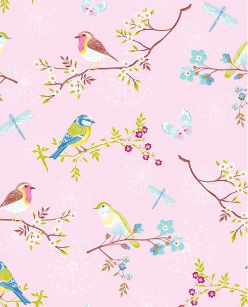 Bilde av TAPET - Early Bird - Rosa - Pip Studio - Eijffinger