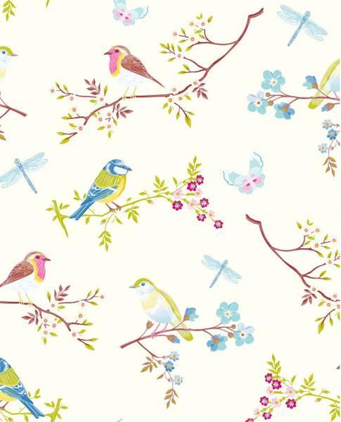Bilde av TAPET - Early Bird - Hvit - Pip Studio - Eijffinger