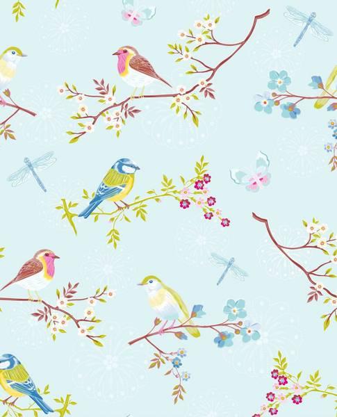 Bilde av TAPET - Early Bird - Blå - Pip Studio - Eijffinger
