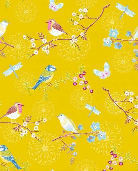 Bilde av TAPET - Early Bird - Gul - Pip Studio - Eijffinger