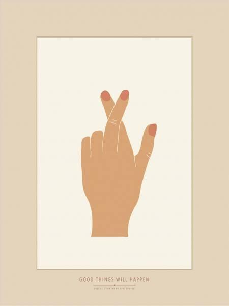 Bilde av PLAKAT - Krysser fingrene - Vissevasse