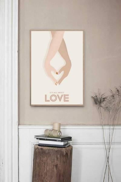 Bilde av PLAKAT - Kjærlighet - Vissevasse