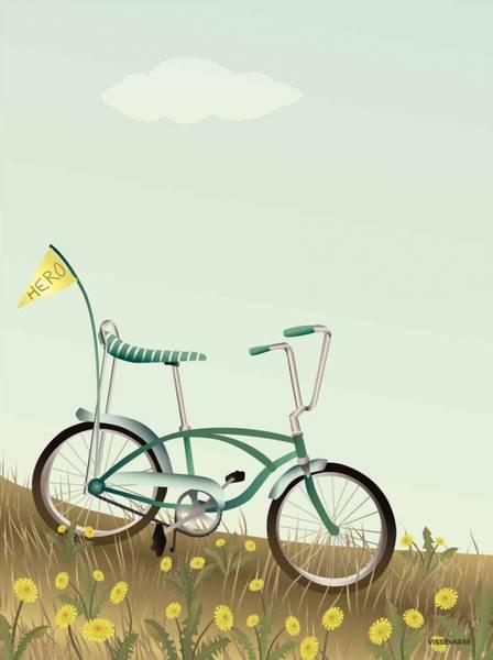 Bilde av PLAKAT - Sykkel Med Flagg - Vissevasse